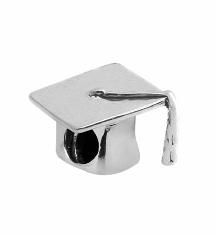 Amore & Baci graduation hat silver bead