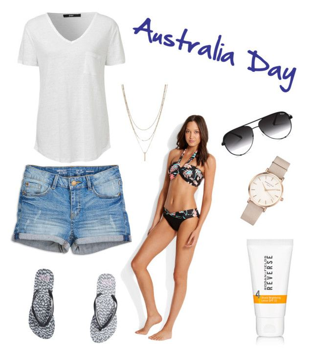 """""""Australia Day public holiday"""" by amanda-barrett on Polyvore featuring Quay, ROSEFIELD and Billabong"""