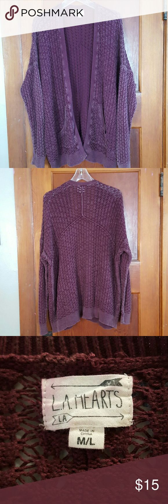 Open Front Cardigan Plumbing colored, open front cardigan LA Hearts Sweaters Cardigans