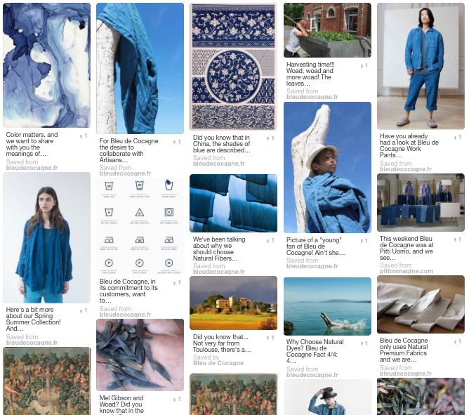 >>> LET'S PIN!    Follow us at Pinterest and lets share the things we love most!  >>>  pinterest.com/bleudecocagne/      ___________________________________________________________  #bleudecocagne #woad #natural #blue #pastel #spring #summer #collection #online #socialmedia #pinterest