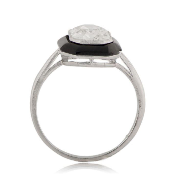 Antique Onyx Engagement Ring
