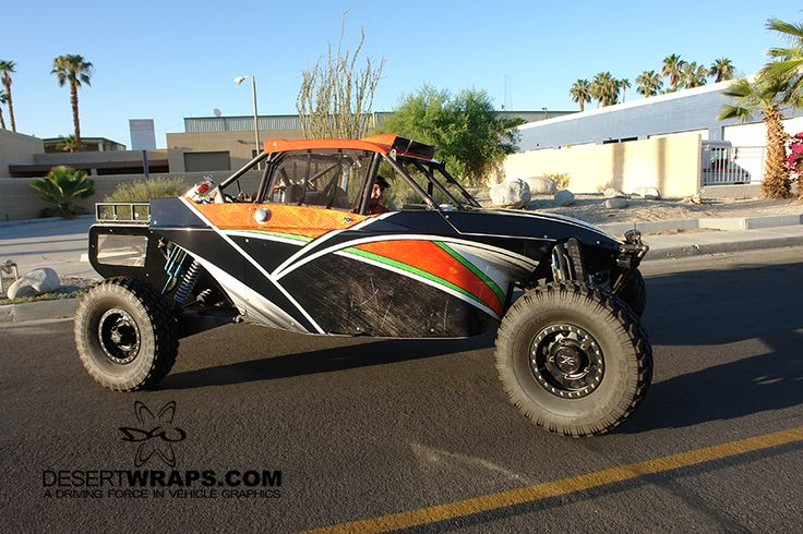Sandrail wrap installed by DesertWraps.com. We install specialty wraps for vehicles from Indio, La Quinta, Indian Wells, Cathedral City, and beyond. 760-935-3600