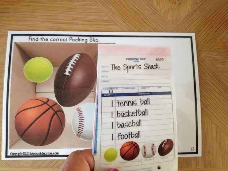 75 best Autism Life Skills Work Tasks images on Pinterest Life - packing slip form