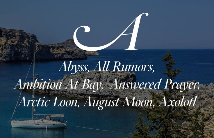 The Best Boat Names Ever, from A to Z