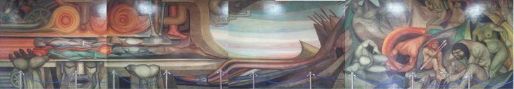 Mural perteneciente al edificio de la Gran Logia de Chile (Masonería).
