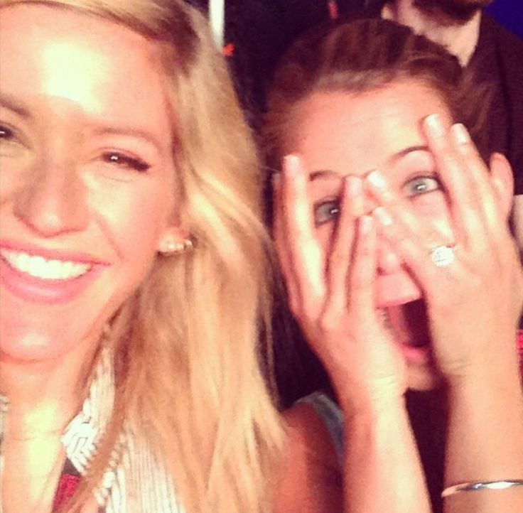 Ellie Goulding and Izzy Judd.