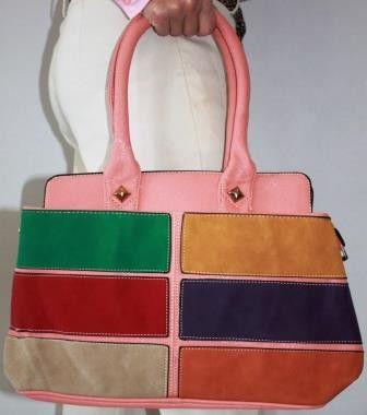 Soft Touch Suede Coloured Handbag