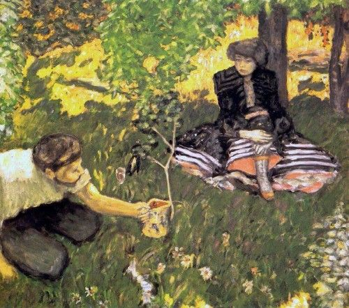 """huariqueje:  """" The Gardener - Pierre Bonnard, 1908  French, 1867-1947  Oil on canvas, 85 cm (33.46 in.) x 93 cm (36.61 in.)  """""""