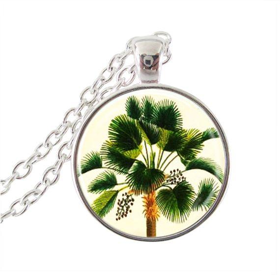 Дерево ожерелье волшебник из страны оз изображение ювелирный завод стеклянный купол подвески колье с серебряной цепочке neckless женщины подарки