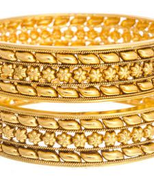 Buy Ravishing & Ethnic Gold Designer Bangle (Openable). bangles-and-bracelet online