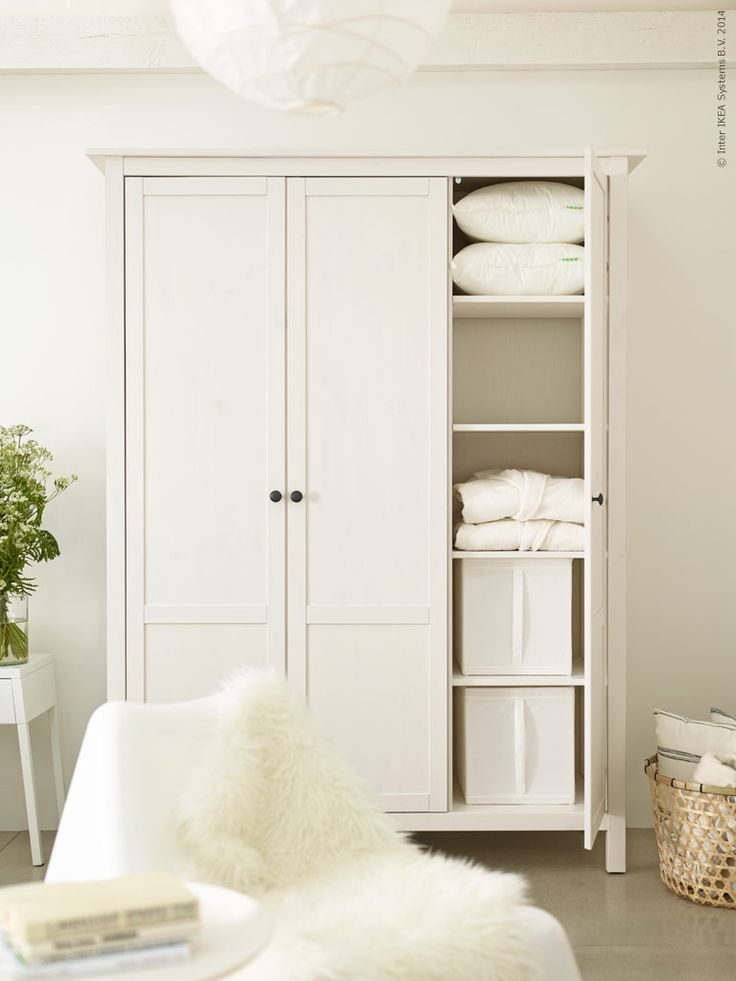 Hemnes Wardrobe.  Perfect for a guest room without a closet!