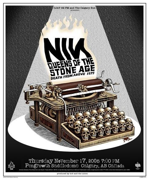 NIN + Queens of the Stone Age Poster