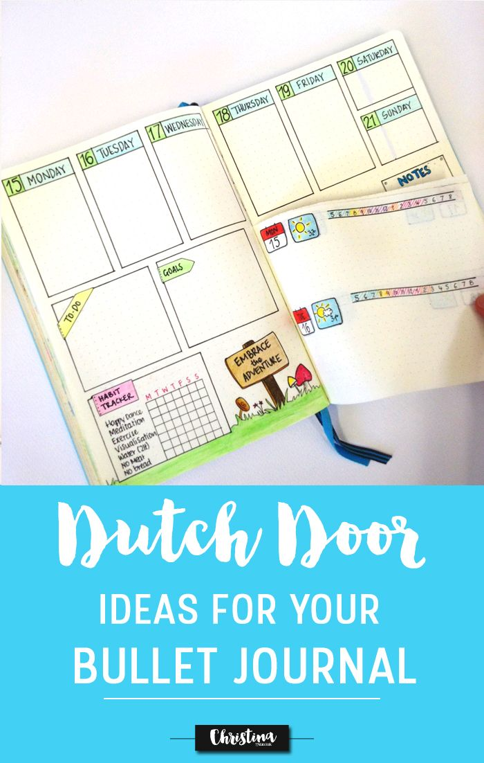 See how to create a dutch door spread in your bullet journal. Also get inspired by other bullet journalists and what they have done with the dutch door system in their bujos ;)