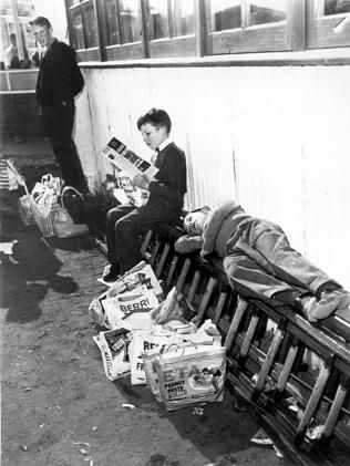 The aftermath of the Royal Adelaide Show is unchanged since 1959 — a very tired boy and l