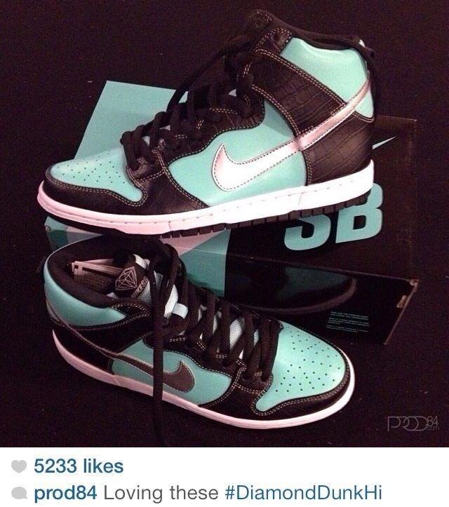 Tiffany Blue Nike Dunks High 2013        #Blue #Womens #Sneakers