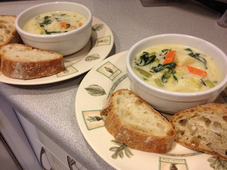 French Spring Soup, Made with ALL Farmers Market ingredients