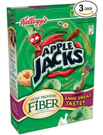 Apple Jacks Cereal Eric's favorite sugary breakfast cereal