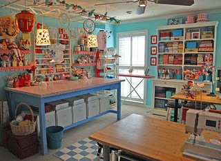 I would love for my craft room to look like this!