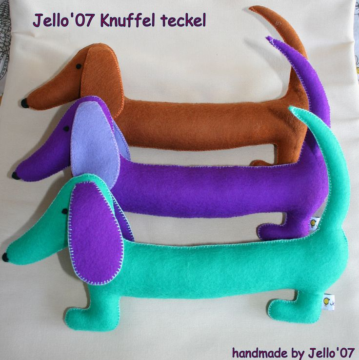 New. Stuffed Dachshund, handmade of woolfelt.  A nice gift for baby or toddler    www.etsy.com/listing/112491468/the-jello-stuffed-toy-dachshund  price $20