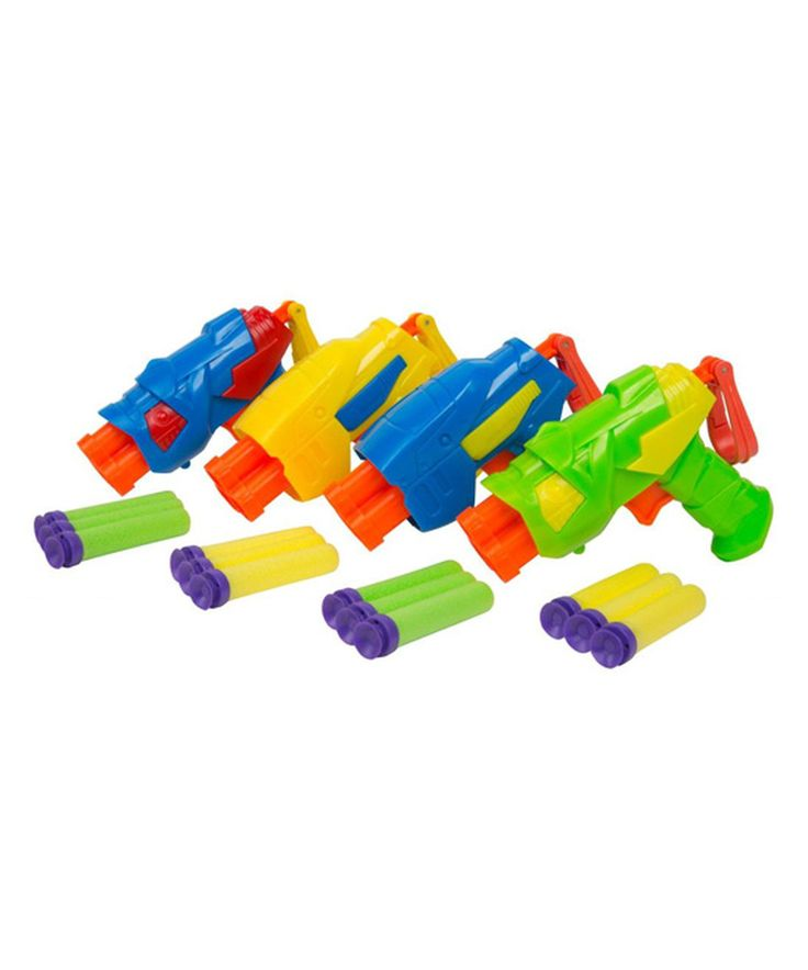 Love this Tek 3 Four Pack Blaster Set by Buzz Bee Toys on #zulily! #zulilyfinds
