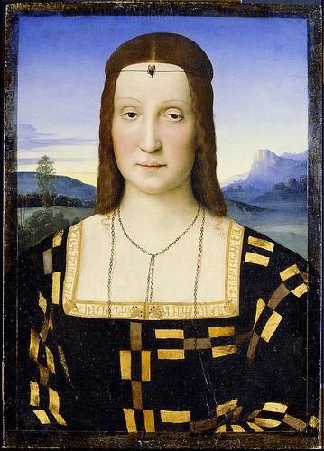 Raphael: Portrait of Elisabetta Gonzaga (1503) #TuscanyAgriturismoGiratola
