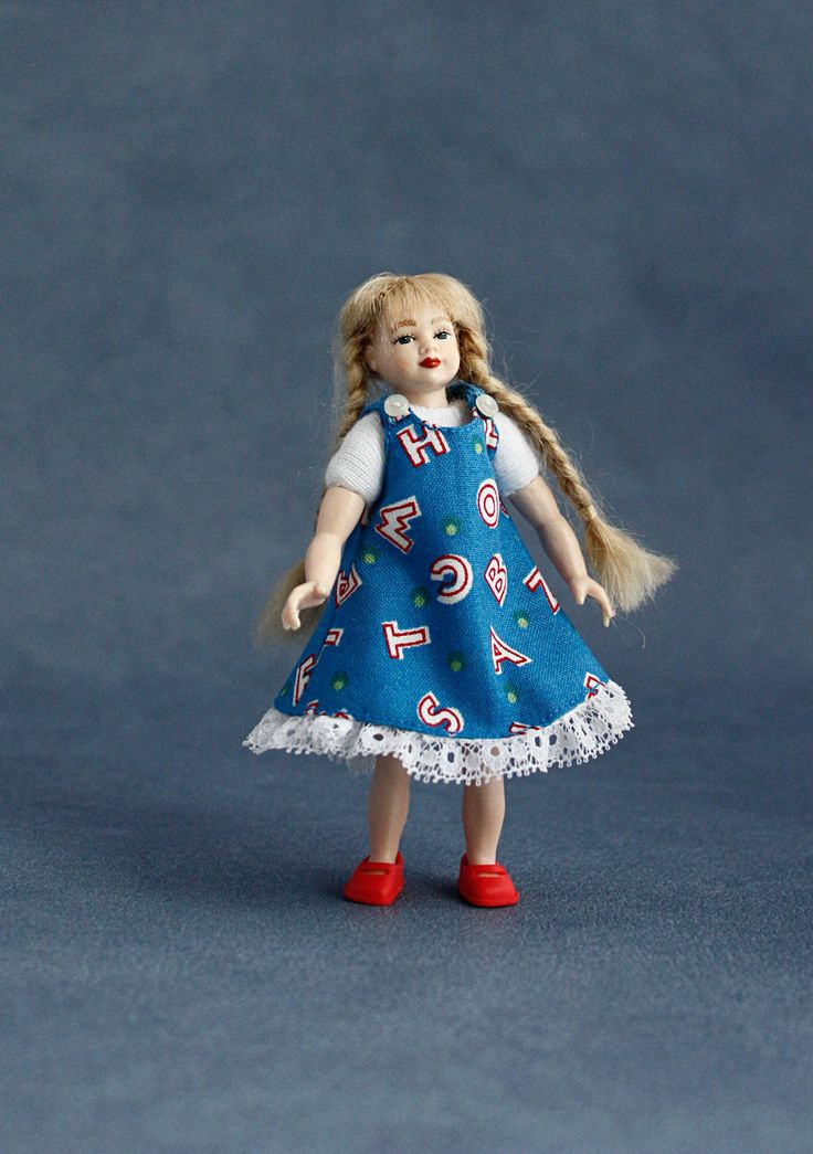 "Wearable dollhouse dress for 1/12 Heidi Ott 4"" child doll. Free shipping!"