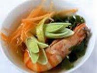 Японский суп с креветками