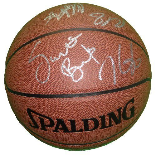 2012 Oklahoma City Thunder Team Autographed NBA Spalding I/O Basketball with 9 Signatures Total, Proof Photos by Southwestconnection-Memorabilia. $399.99. This is a 2011-2012 Oklahoma City Thunder team autographed NBA Spalding indoor/outdoor basketball. The following Thunder have signed the basketball in silver paint pen for us: Head Coach Scott Brooks, Kevin Durant, Serge Ibaka, Nick Collison, Cole Aldrich, Eric Maynor, Reggie Jackson, Royal Ivey and Coach Maurice Ch...
