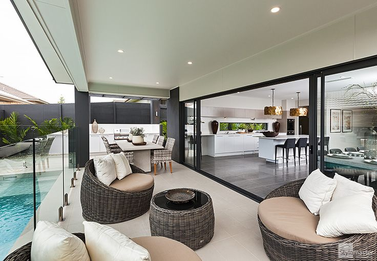 Outdoor living in the Milan by Stylemaster Homes