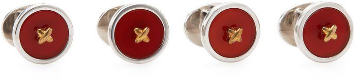 Jan Leslie Men's Classic Button Studs (Set of 2)