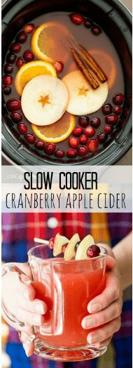 awesome Slow Cooker Cranberry Apple Cider