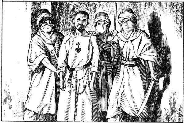 Charles de Foucauld pris par les Fellagha