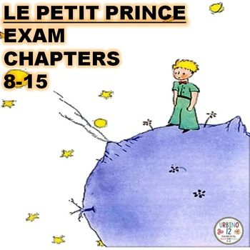This 31 item exam covers  comprehension and vocabulary of chapters 8-15 for the classic book Le Petit Prince.   Quiz contains:  10 multiple choice items covering chapters 8-15  21 sentence completion items with word bank  Teacher answer key  This product is also available in  discounted BUNDLES: Le Petit Prince Examens BUNDLE Le Petit Prince BUNDLE  I hope this product is useful to you and your students.