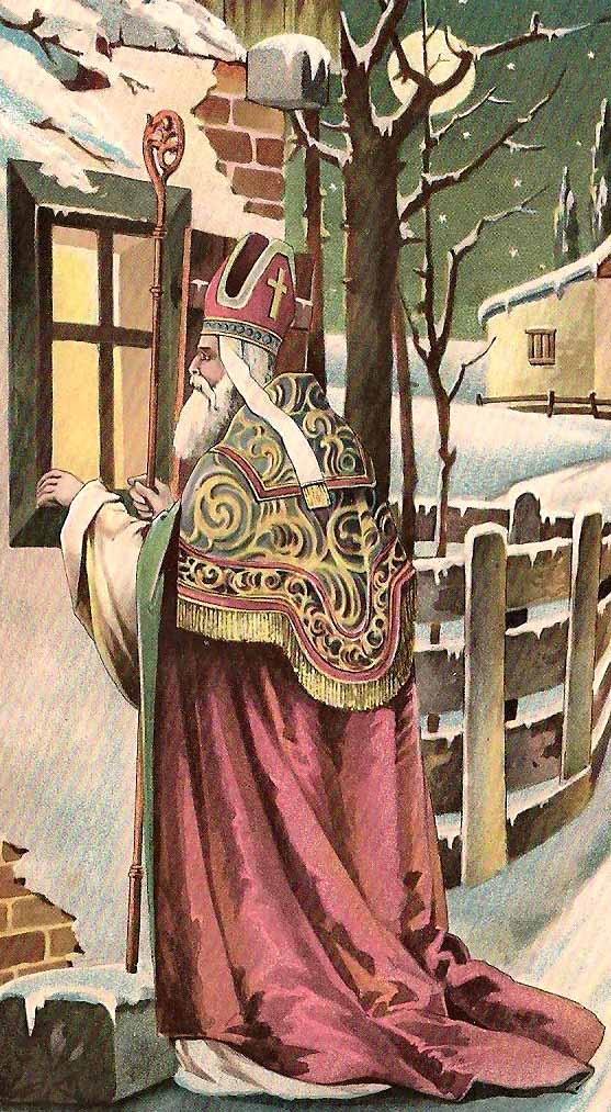 St. Nicolaas post kaart.............. lb xxx.