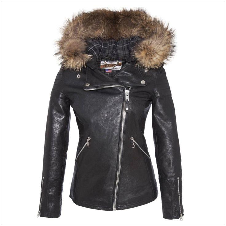 Γυναικείο δερμάτινο μπουφάν SCHOTT N.Y.C. Μοντέλο: Perfecto Leather Jacket Wholy (προσθαφαιρούμενη κουκούλα) Δέρμα: black nappa Τιμή: 435€