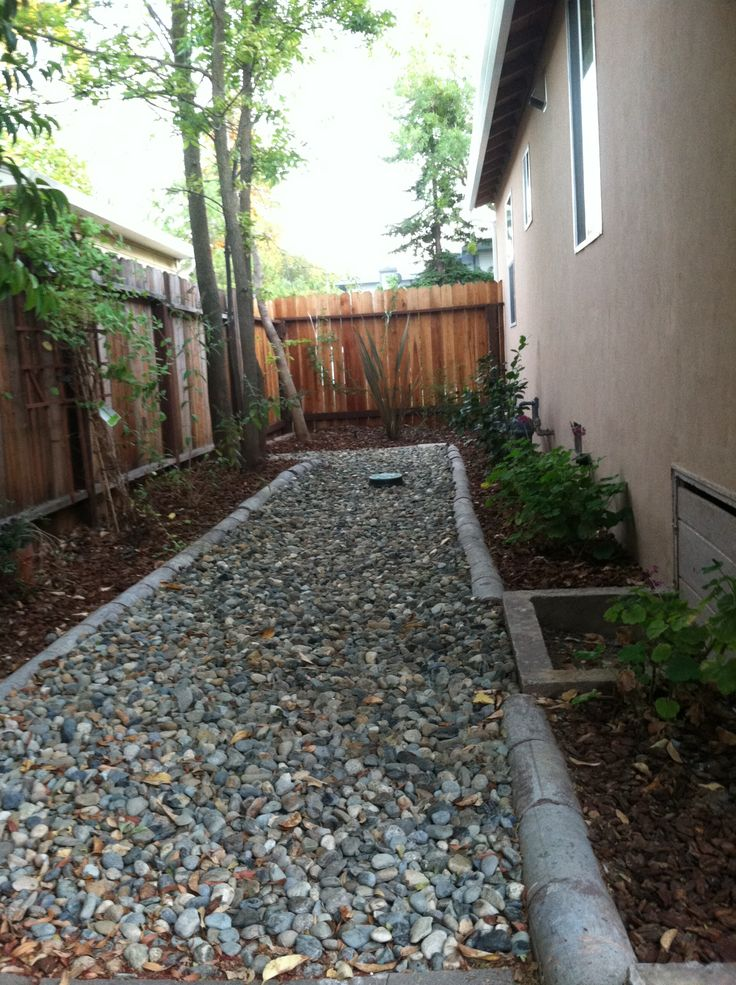 Low maintenance side yard growing things pinterest for Landscaping the backyard ideas