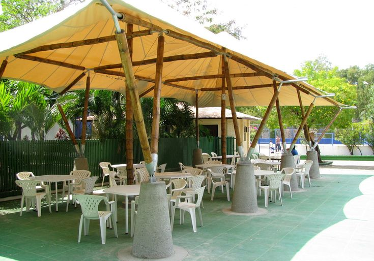Guadua Bamboo and architect Donald Ricci collaborated on building this  custom bamboo structure in Managua, Nicaragua in 2010. The bamboo structure  is suited for diverse recreational activities as well as cultural and  educational programs.