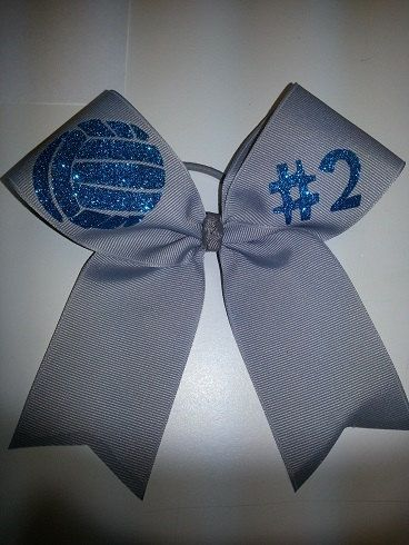 Volleyball Bow on Etsy, $11.00