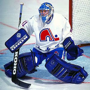 Jocelyn Thibault Nordiques Game Worn Gloves: GAMEWORNAUCTIONS.