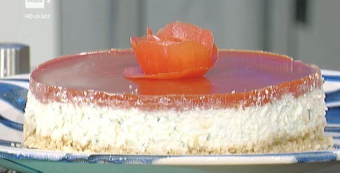 La ricetta della cheese cake salata con mozzarella di Daniele Persegani
