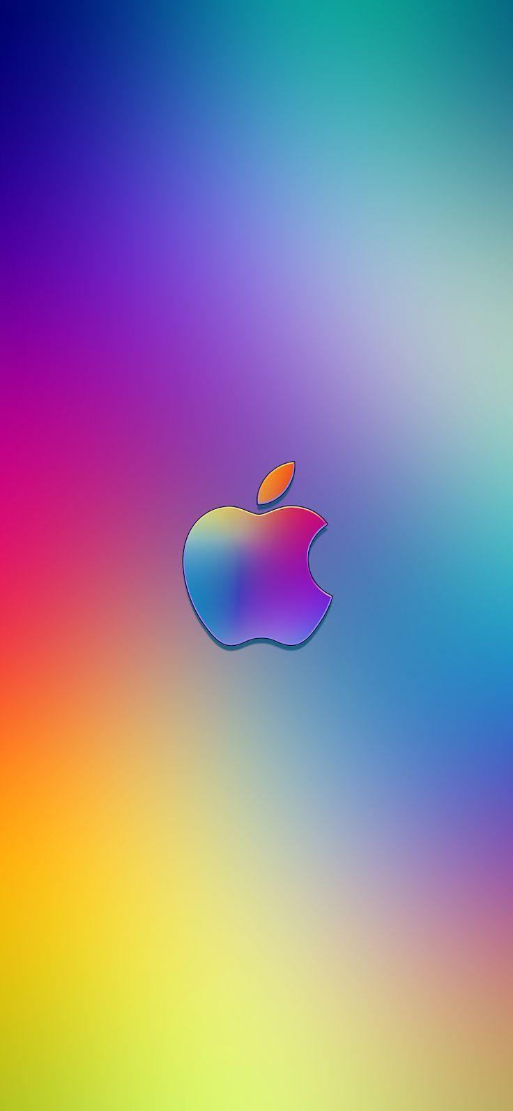 Gradient Apple Logo Iphone X Wallpaper In 2019 Apple