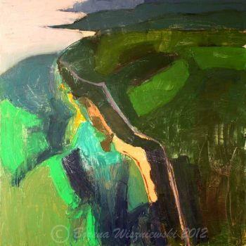 Great Ocean Road, contemporary landscape  Artist: Wiszniewski, Bozena  Artwork title: Great Ocean Road  Price: $1600