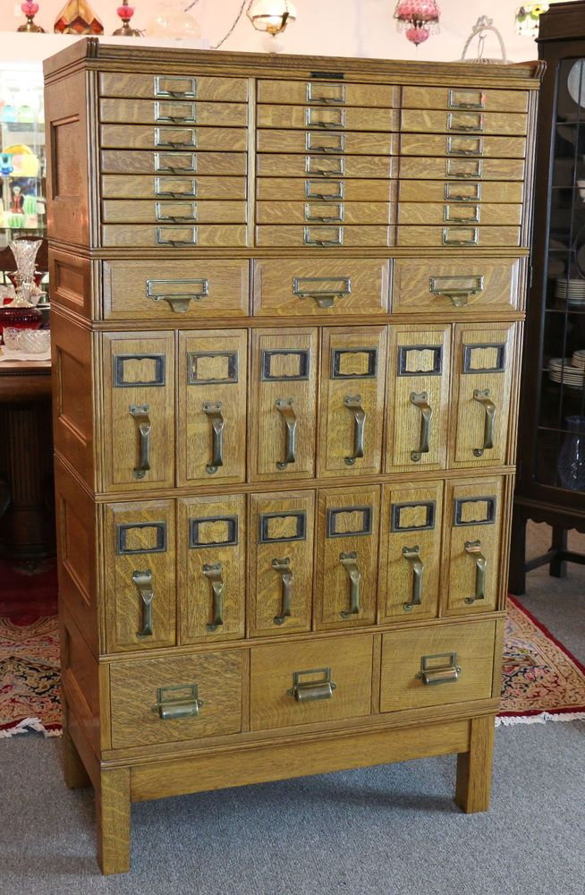 44 best Card catalog cabinets images on Pinterest | Library cards ...