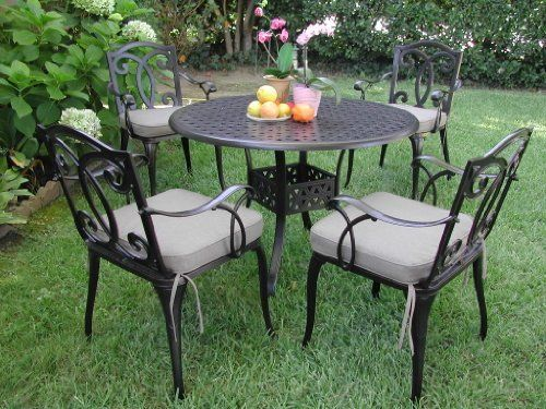 Outdoor Cast Aluminum Patio Furniture 5 Pc Dining Set B CBM1290 by Dining Set