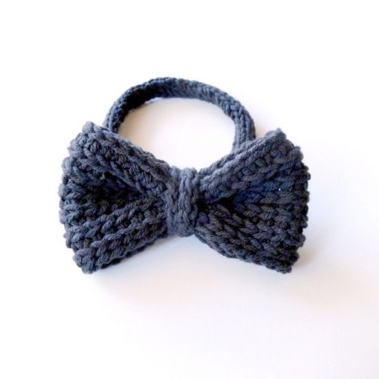 Need a bow tie for that special someone? Or perhaps a new hair accessory? Knit one with this free pattern with video tutorials included!