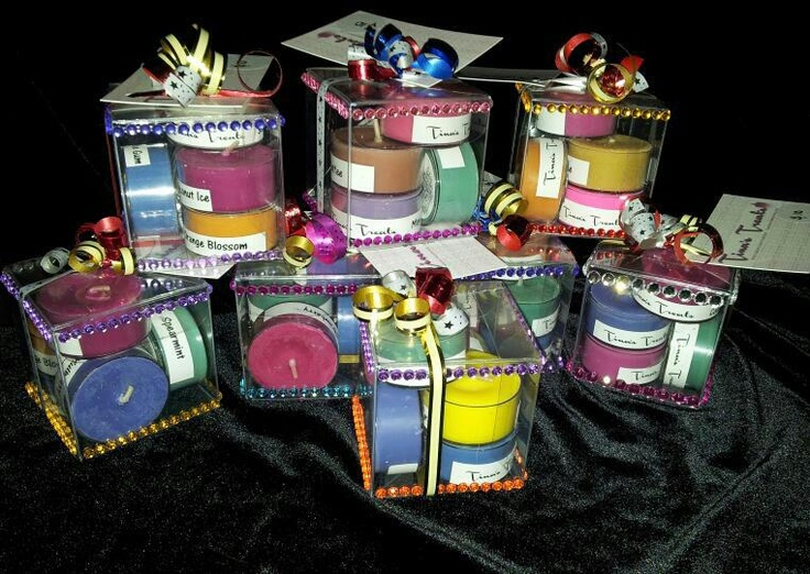 Our cute little Scented Tea Light Gift Boxes    www.facebook.com/tinastreat