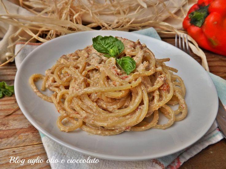 pasta peperoni e ricotta cremosa-ricetta veloce