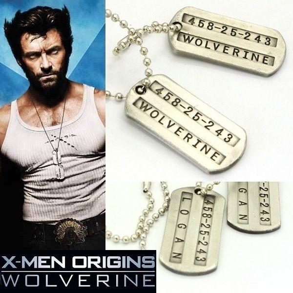 Wolverine pendentif dog tags (paire) plaques d'identité militaires