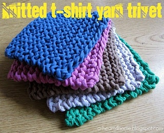 Knitted T-Shirt Yarn Trivets