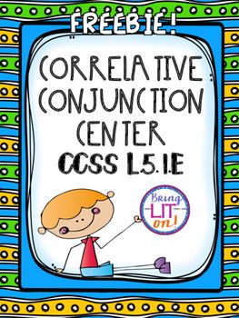 papers correlative conjunction Conjunctions lesson plan correlative conjunction then transfer the story to chart paper, leaving the conjunction blank and making a word bank at the bottom.